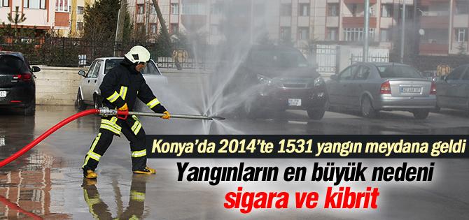 Konya'da İtfaiye 2014 Yılında Bin 531 Yangına Müdahale Etti