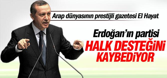 El Hayat: Erdoğanın partisi AKP halk desteğini kaybediyor