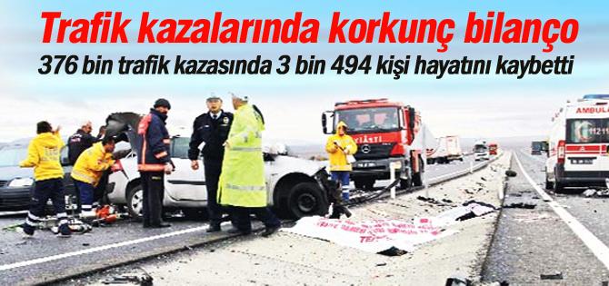 Geçen yılın trafik kazası bilançosu ağır oldu