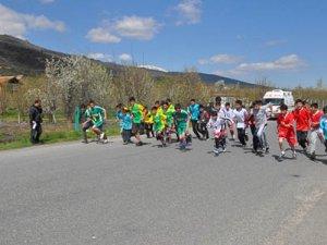 Akşehir'de 23 Nisan  koşusu yapıldı