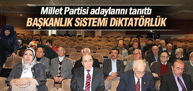 Millet Partisi adaylarını tanıttı