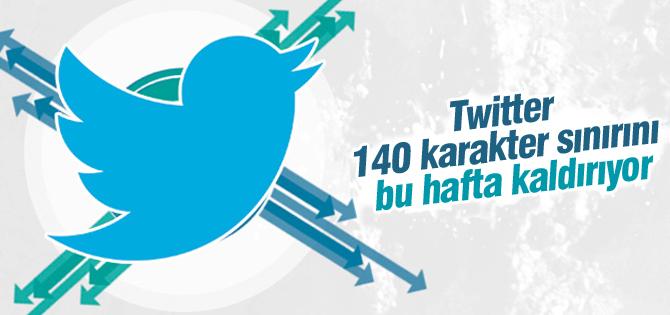 Twitter 140 Karakter Sınırını Bu Hafta Kaldırıyor