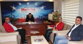 Karamercan ve ekibi Merhaba'yı ziyaret etti