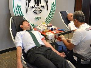 Atiker Konyasporda kan bağışı kampanyası
