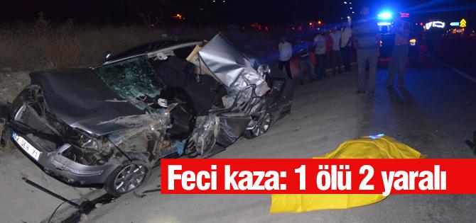 Otomobille kamyonet çarpıştı: 1 ölü 2 yaralı