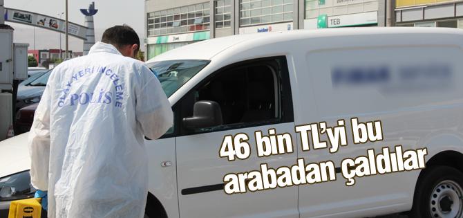 Kamyonetten 46 bin TLlik hırsızlık