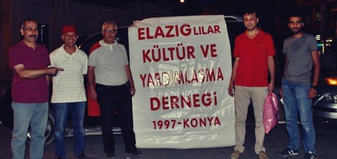 Konyadaki Elazığlılar demokrasi nöbetinde