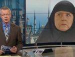 Merkel kara çarşaf giydi