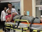 İnşaattan düşen işçi hastaneye kaldırıldı